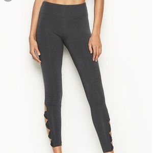 VS Sport Gray Twist Leggings, medium